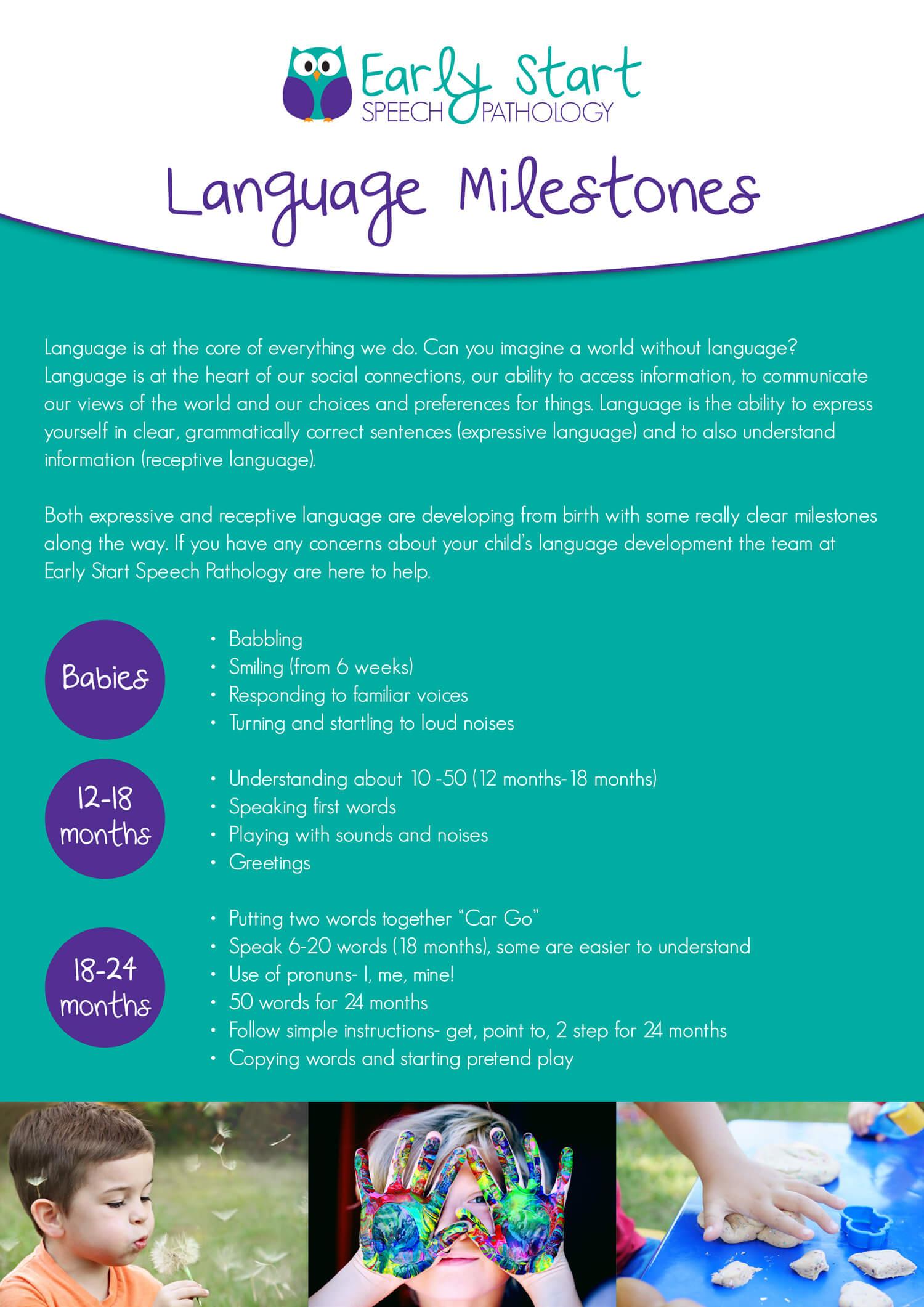 Early Start Language Milestones